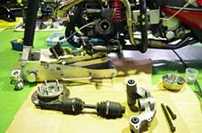 独立懸架トライクの修理